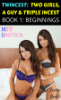 Twincest: Two Girls, A Guy & Triple Incest (Book 1:  Beginnings) by Sasha Bond