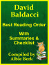 David Baldacci - Best Reading Order - with Summaries & Checklist - Compiled by Albie Berk by Albie Berk