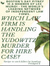 BOSTON'S DAY PITNEY IS A MEMBER OF LEX MUNDI - THE WORLD'S LEADING NETWORK OF INDEPENDENT LAW FIRMS WHICH LAW FIRM IS HANDLING THE YUDOWITZ MURDER FOR HIRE CASE?  Recipe to Catch Killers. by Jonathan Foodgod II