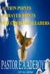 Action Points & Prayer Points For Christian Leaders (PART 2) by E.A Adeboye