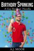 Birthday Spanking - A Gay Bondage Novella by A.J. Moor
