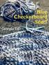 Blue Checkerboard Scarf by Georgia Tell