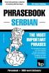 English-Serbian phrasebook and 3000-word topical vocabulary by Andrey Taranov