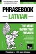English-Latvian phrasebook and 1500-word dictionary by Andrey Taranov