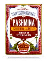 Steven Carlson - What is Pashmina? Seven Tests for the Real Pashmina