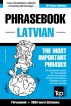 English-Latvian phrasebook and 3000-word topical vocabulary by Andrey Taranov