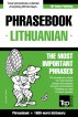English-Lithuanian phrasebook and 1500-word dictionary by Andrey Taranov