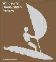 Mother Bee Designs - Windsurfer Cross Stitch Pattern