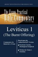 Roderick L. Evans - Leviticus 1 (The Burnt Offering): The Evans Practical Bible Commentary