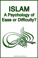 Cover for 'Islam: A Psychology of Ease or Difficulty?'