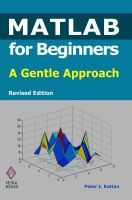 Cover for 'MATLAB for Beginners: A Gentle Approach - Revised Edition'