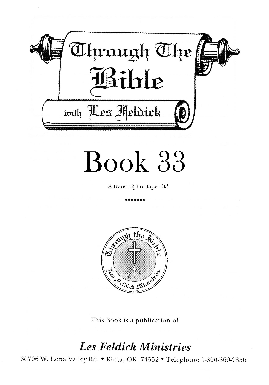 Smashwords – Through the Bible with Les Feldick, Book 33 – a