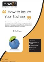 Dr Jim Porter - How to Insure Your Business