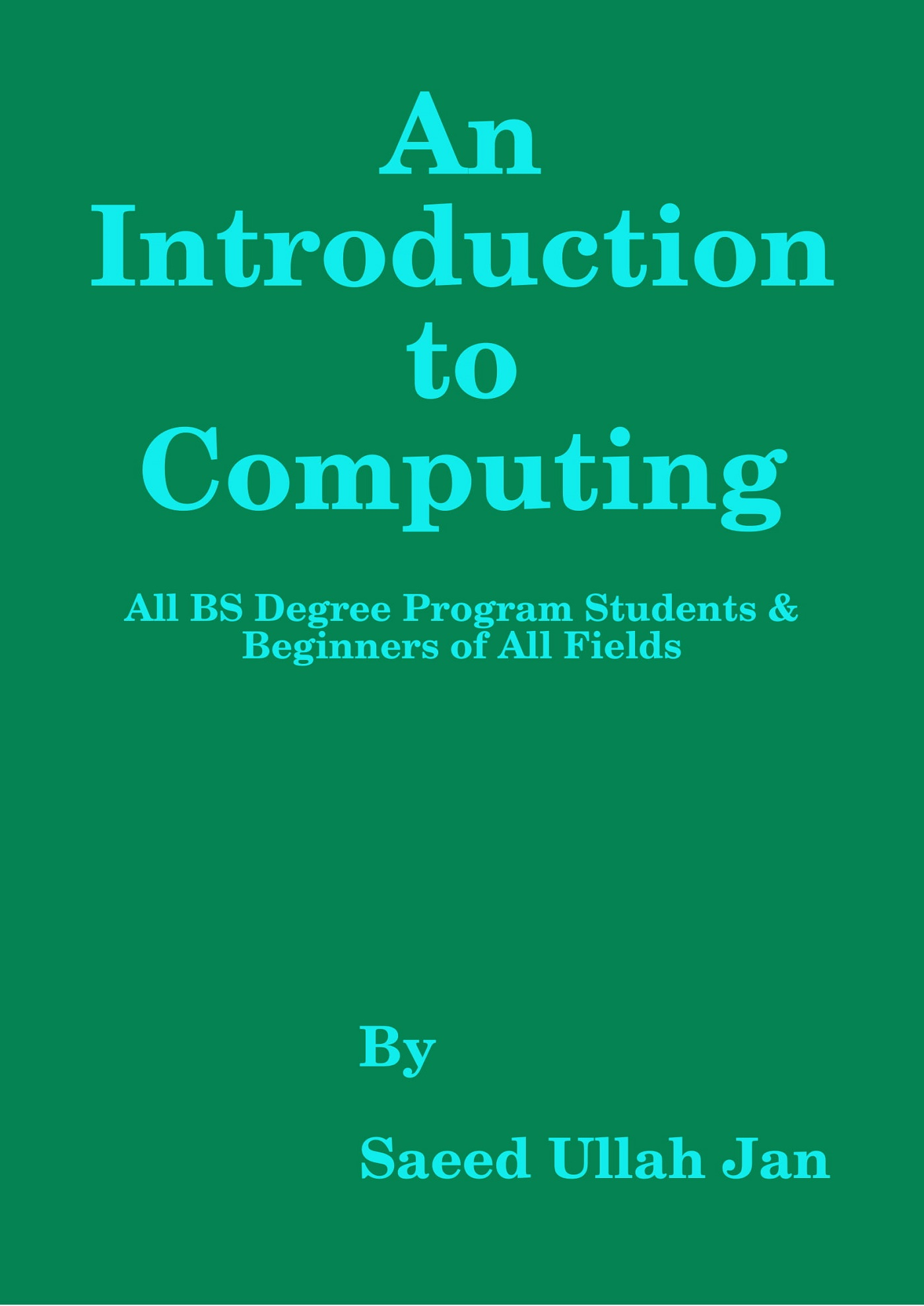 Smashwords – An Introduction to Computing (For BS 04 – Year
