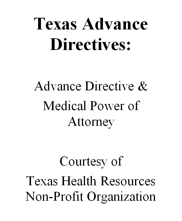 Smashwords  Texas Advance Directives Advance Directive  Medical