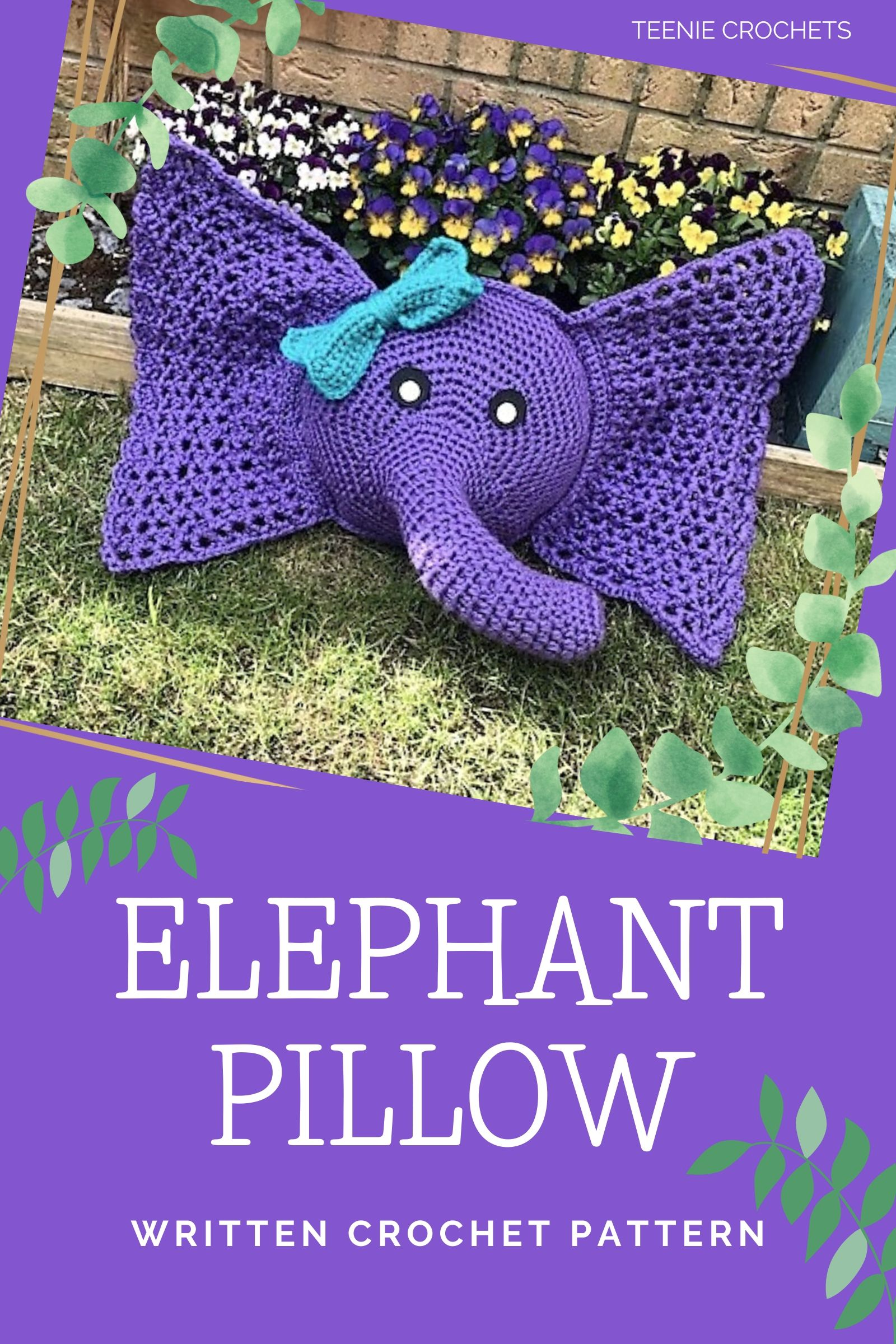 Crochet Elephant Pillow and Rug Pattern Review – Family Bugs ... | 2400x1600