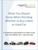 iMoneyCoach - What You Should Know When Deciding Whether to Buy a New or Used Car