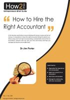 Dr Jim Porter - How to Hire the Right Accountant