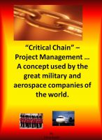 Chris Scott - Critical Chain Project Management - A Concept Used By The Great Military and Aerospace Companies of The World.