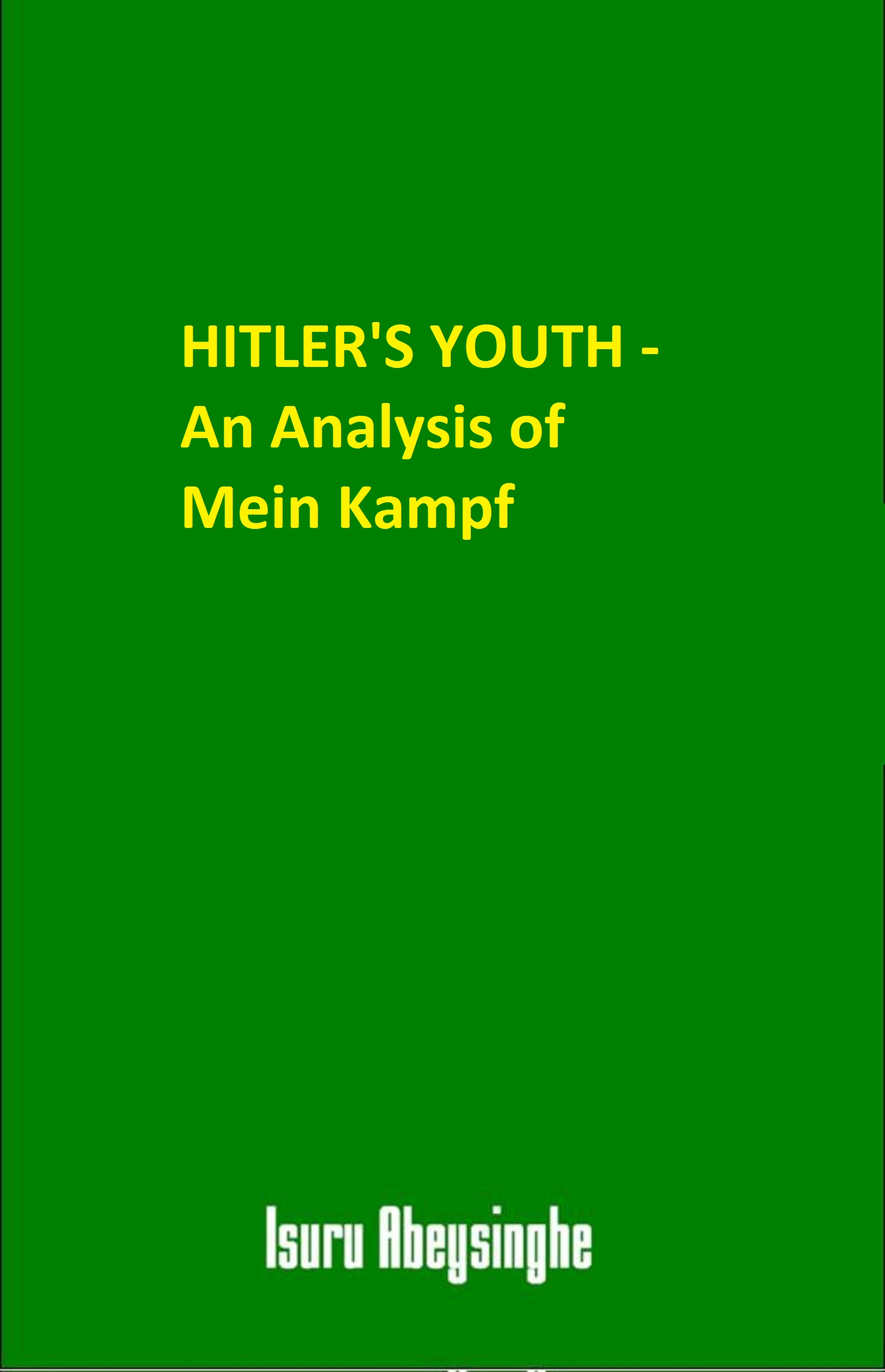 an analysis of the topic of the maude and hitler