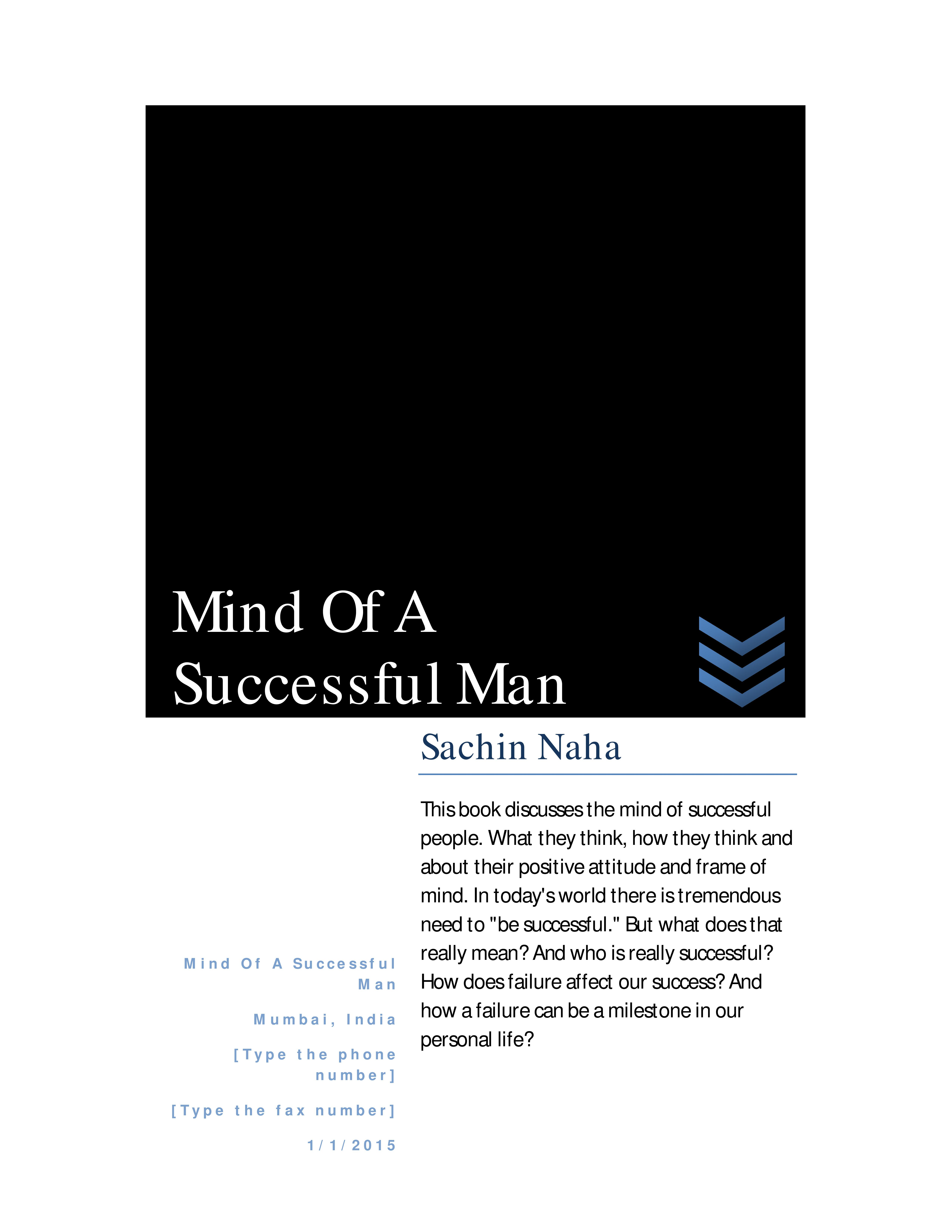 Be man a sucessful to How
