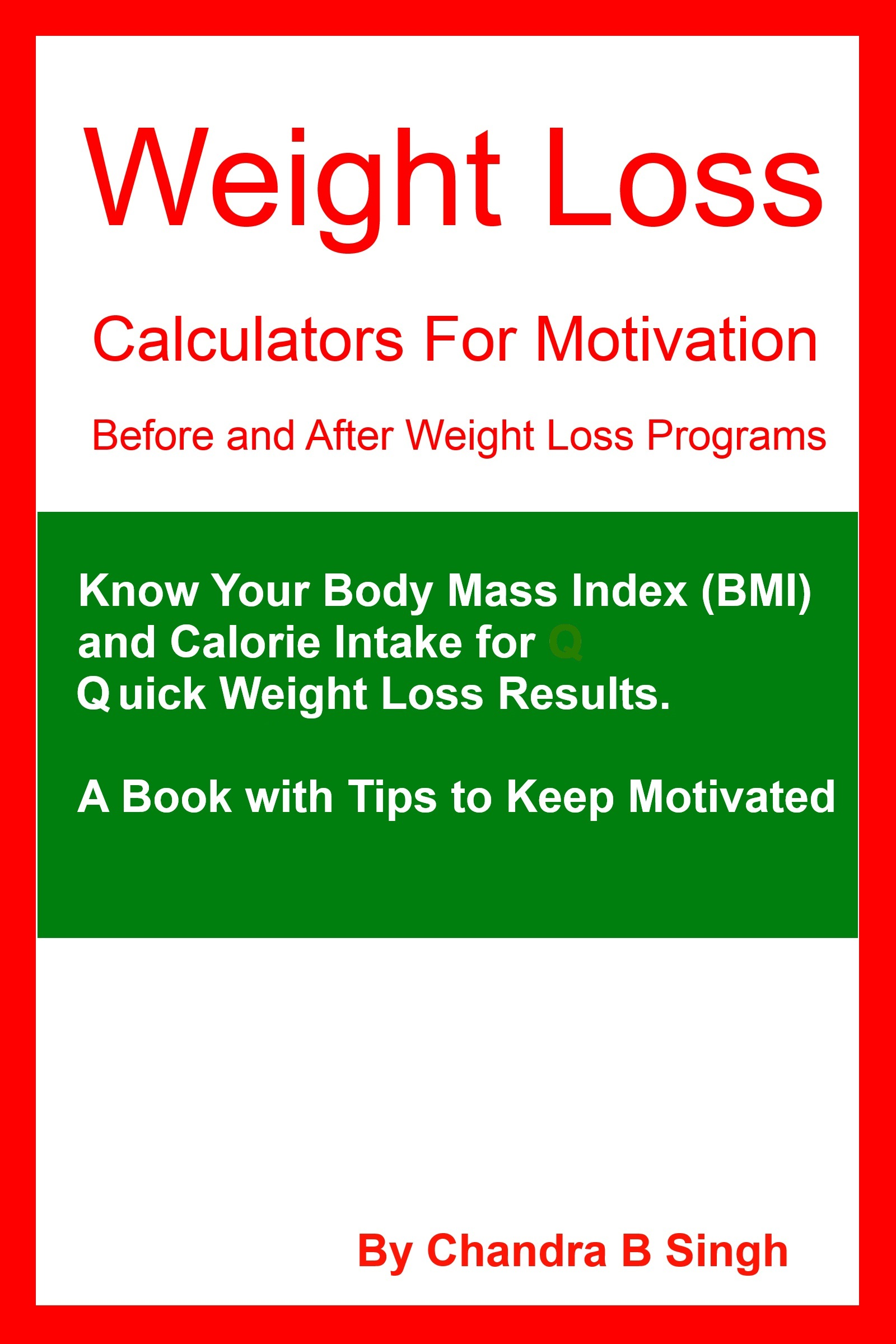 Weight Loss Calculators for Motivation – Before and After Weight Loss  Programs, an Ebook by Chandra B Singh