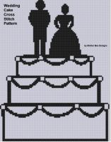 Mother Bee Designs - Wedding Cake Cross Stitch Pattern