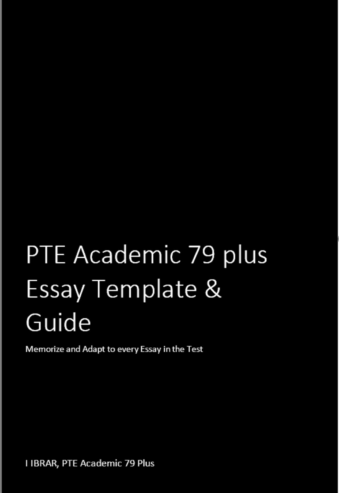 Pte Essay Template Pdf