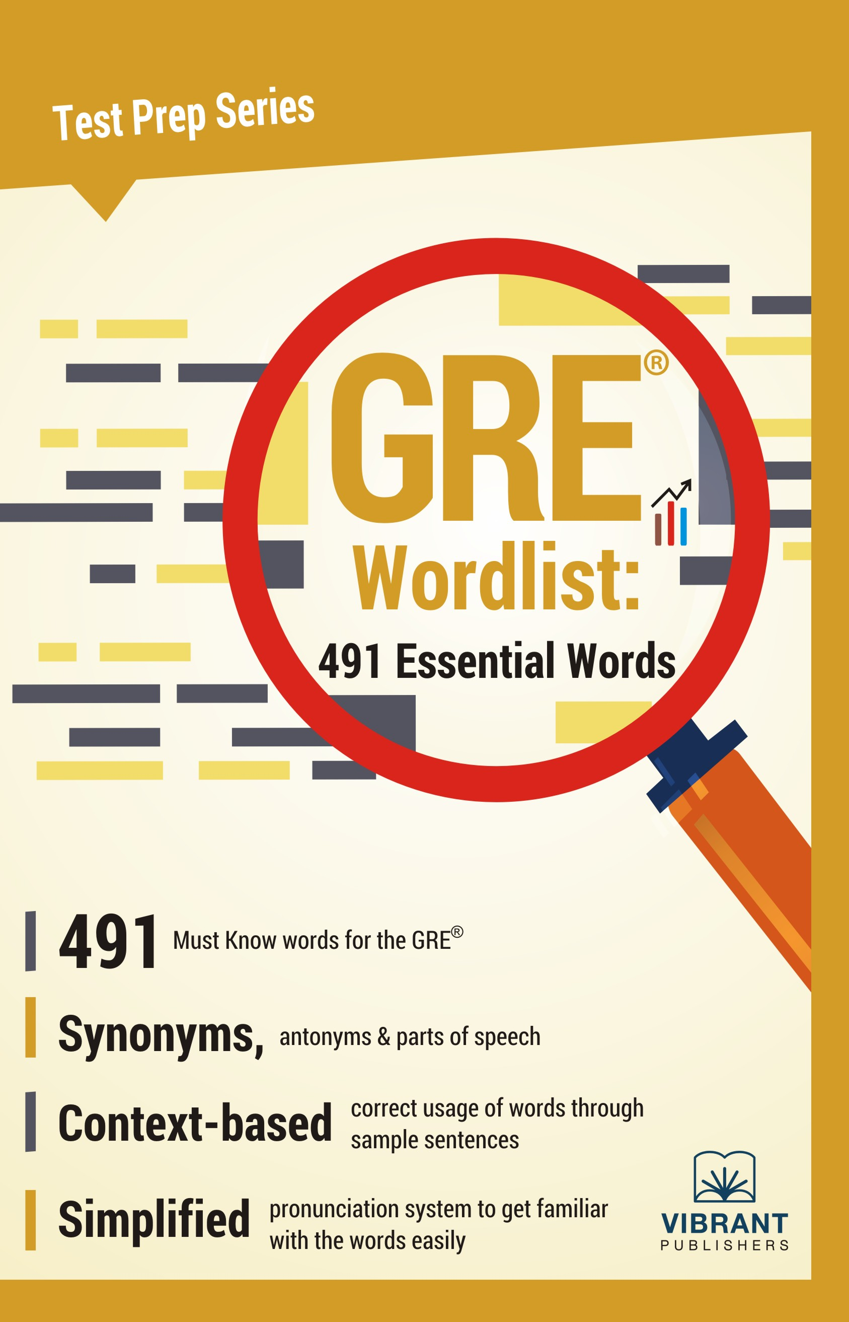 GRE Wordlist: 491 Essential Words, an Ebook by Vibrant Publishers