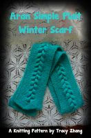 Tracy Zhang - Aran Simple Plait Winter Scarf