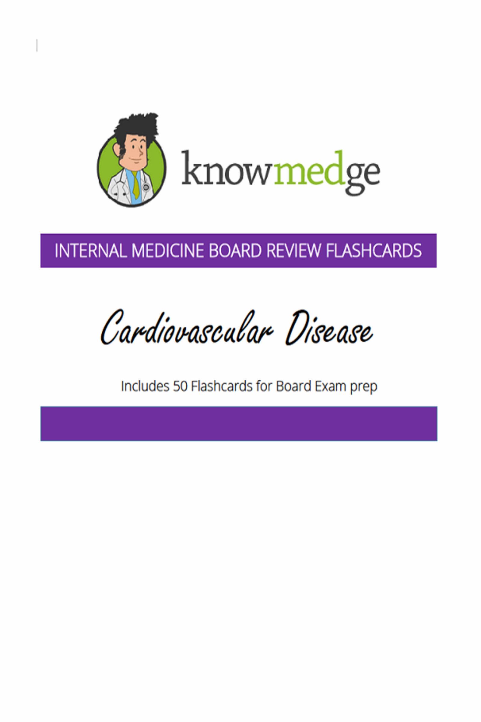 Internal Medicine Board Review Flashcards - Cardiovascular Disease, an  Ebook by Knowmedge