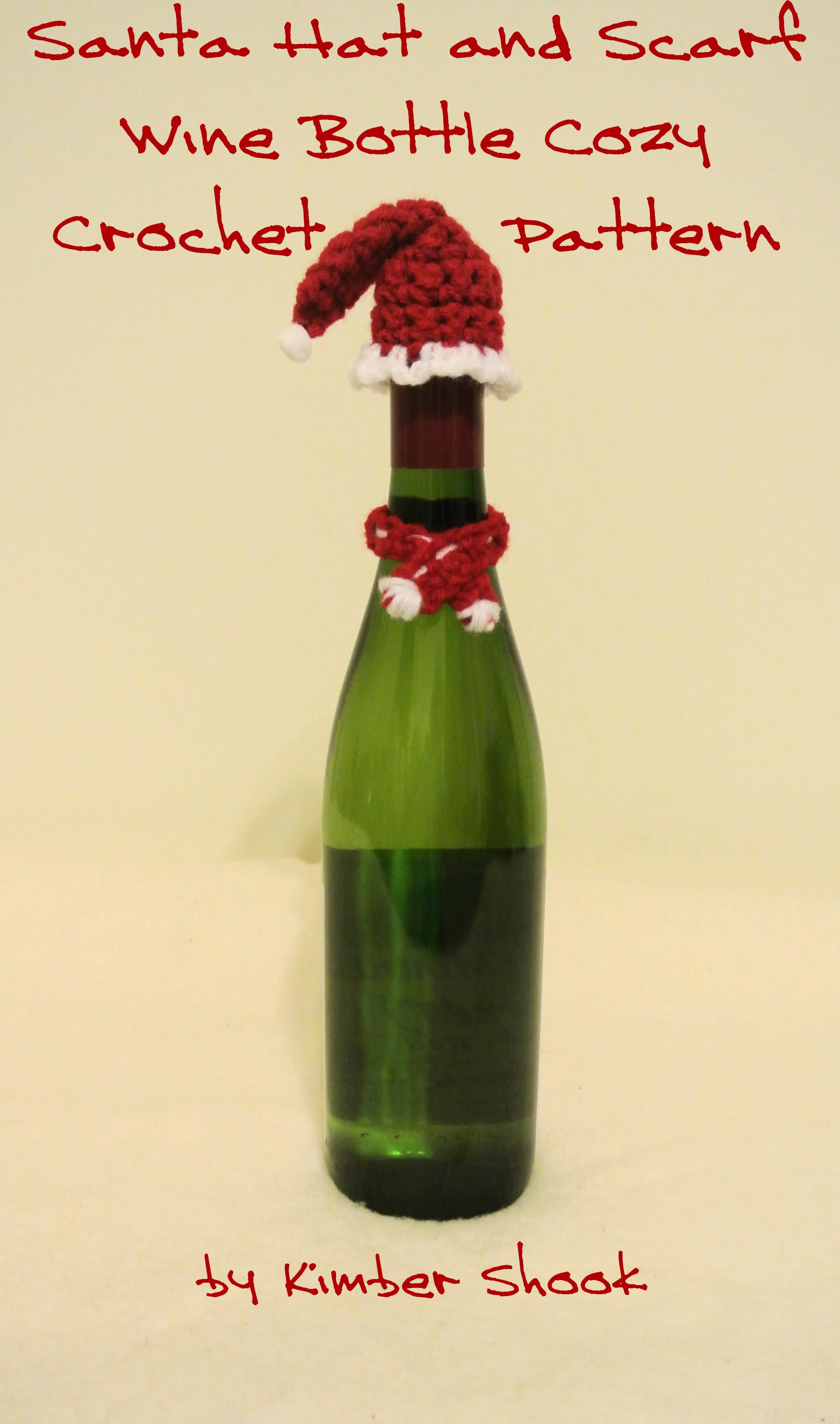 Smashwords – Santa Hat and Scarf Wine Bottle Cozy Crochet Pattern ...