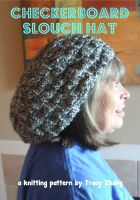 Tracy Zhang - Checkerboard Slouch Hat