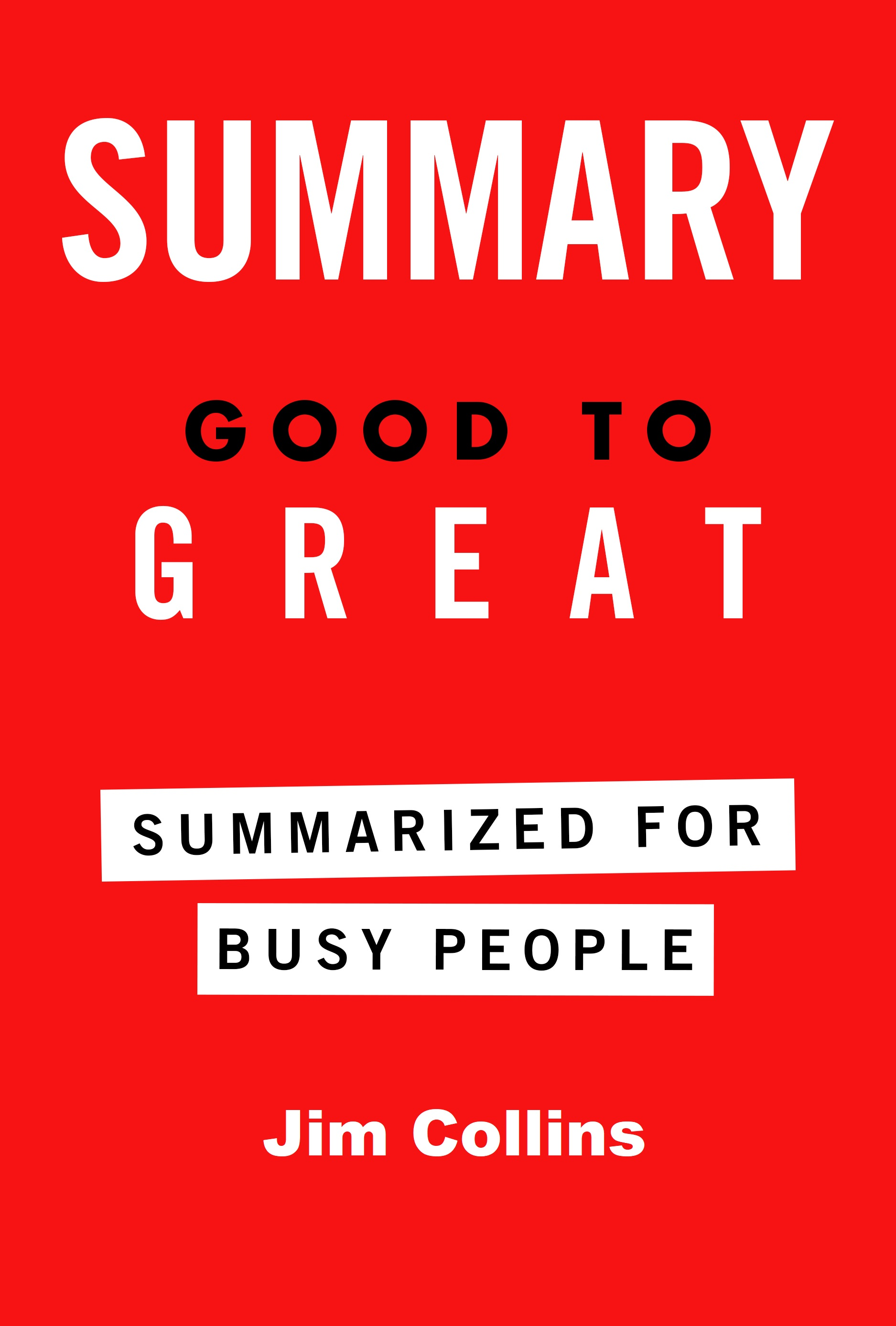 Good Book Cover Pictures : Smashwords good to great summarized for busy people a
