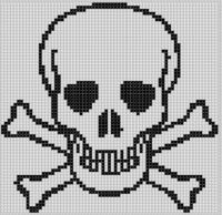 Mother Bee Designs - Skull and Cross Bones Cross Stitch Pattern