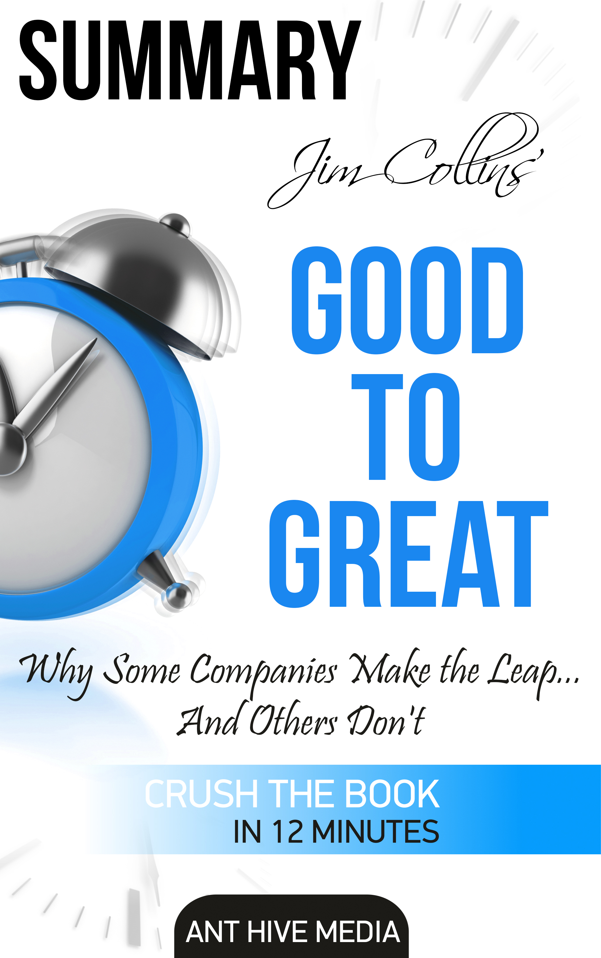 summary of good to great Good to great presents the findings of a five-year study by the author and his research team the team identified public companies that had achieved enduring success after years of mediocre performance and isolated the factors which differentiated those companies from their lacklustre competitors.