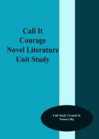 Call It Courage: Novel-Ties Study Guide (Novel-Ties Series ...