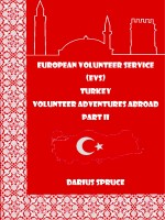 Darius Spruce - European Volunteer Service (EVS) Turkey Volunteer Adventures Abroad Part II