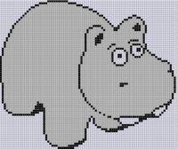 Mother Bee Designs - Hippo Cross Stitch Pattern