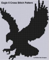 Mother Bee Designs - Eagle 5 Cross Stitch Pattern