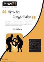 Dr Jim Porter - How to Negotiate