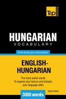 Andrey Taranov - Hungarian Vocabulary for English Speakers - 3000 Words