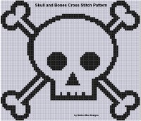 Mother Bee Designs - Skull and Bones Cross Stitch Pattern