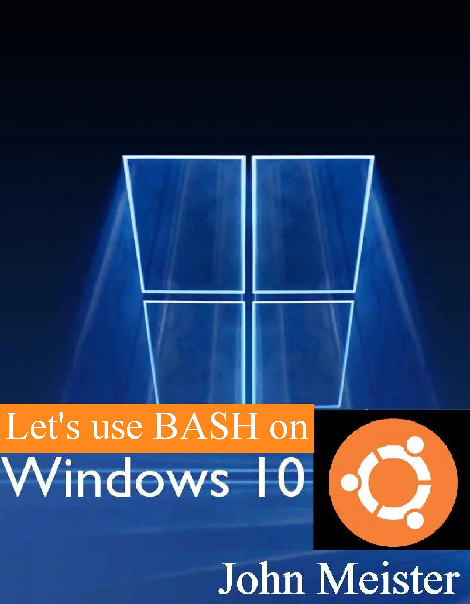 Using BASH on Windows 10