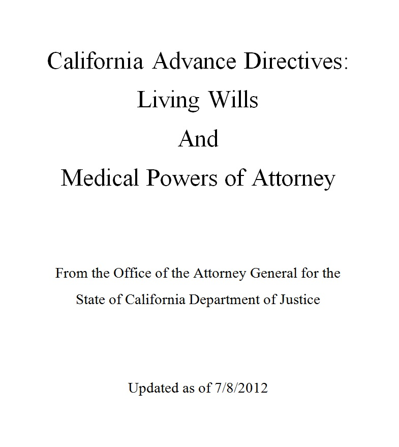 Smashwords  California Advance Directives Living Will And