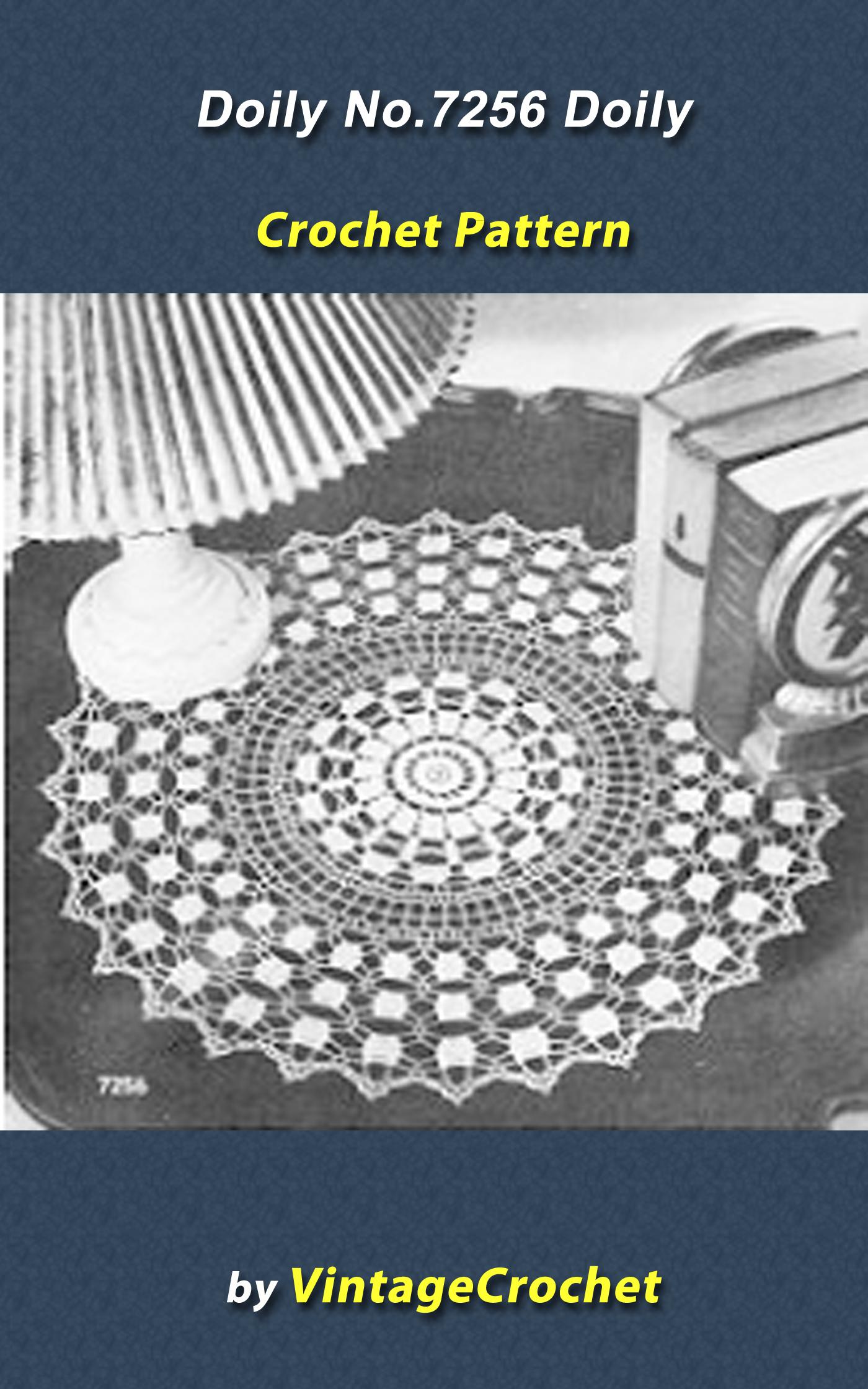 Doily No.7256 Vintage Crochet Pattern
