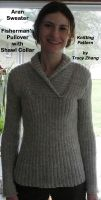 Tracy Zhang - Aran Sweater Fisherman's Pullover with Shawl Collar Knitting Pattern
