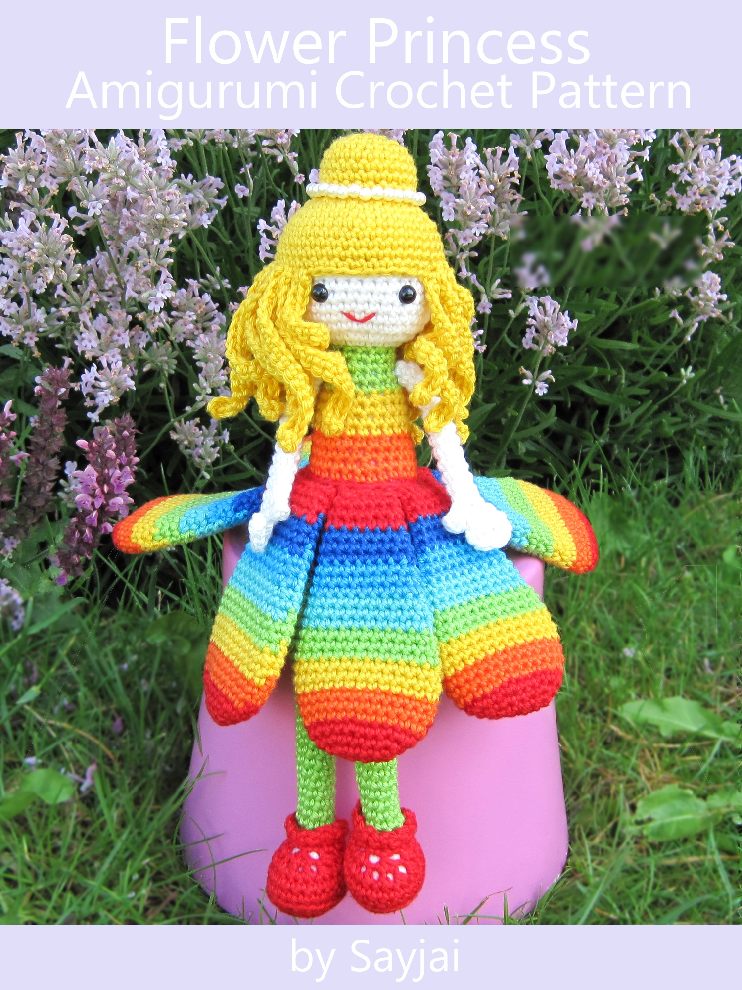 Amigurumi Crochet Flowers : Smashwords Flower Princess Amigurumi Crochet Pattern a ...