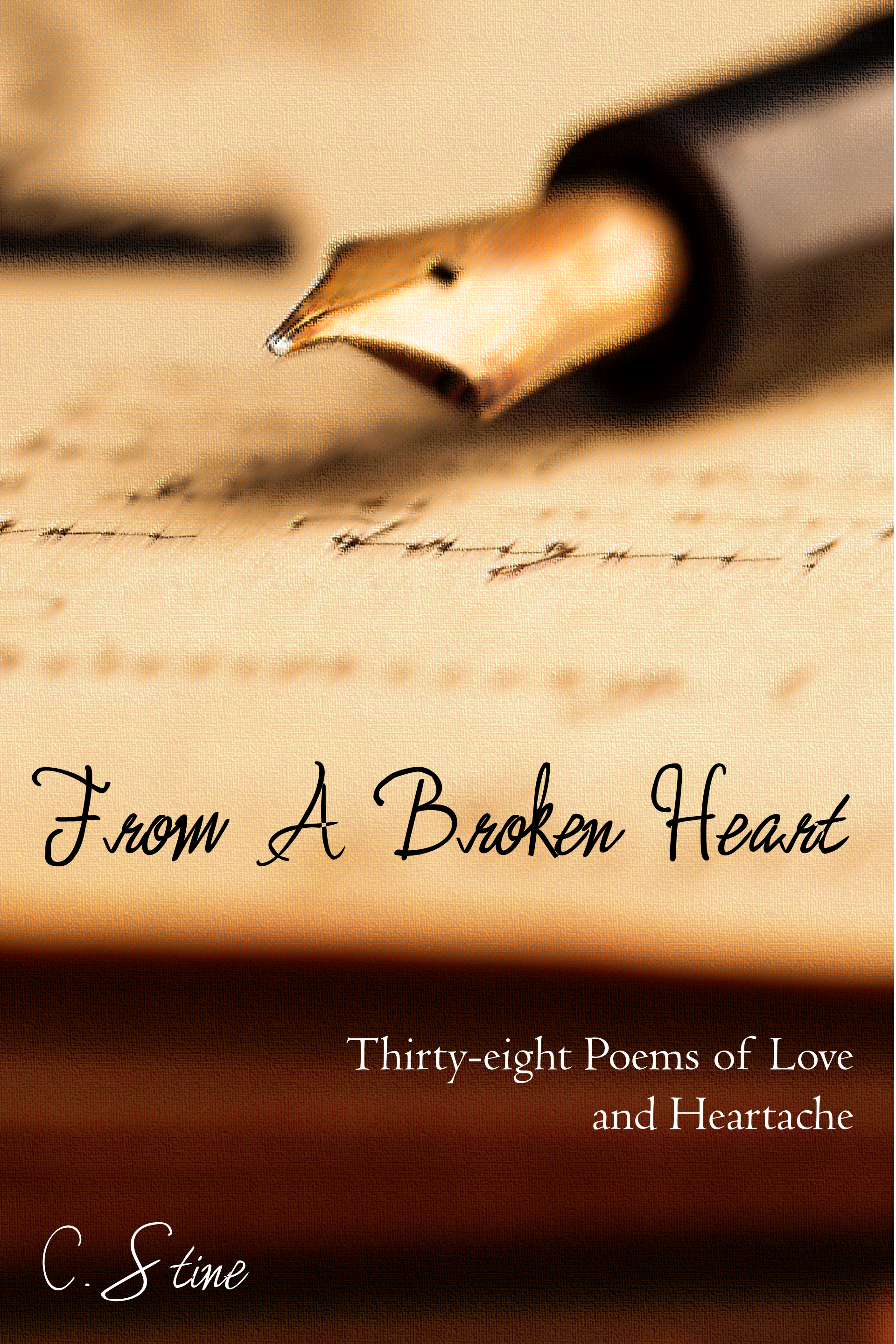From a Broken Heart: Thirty-eight Poems of Love and Heartache, an Ebook by  C  Stine