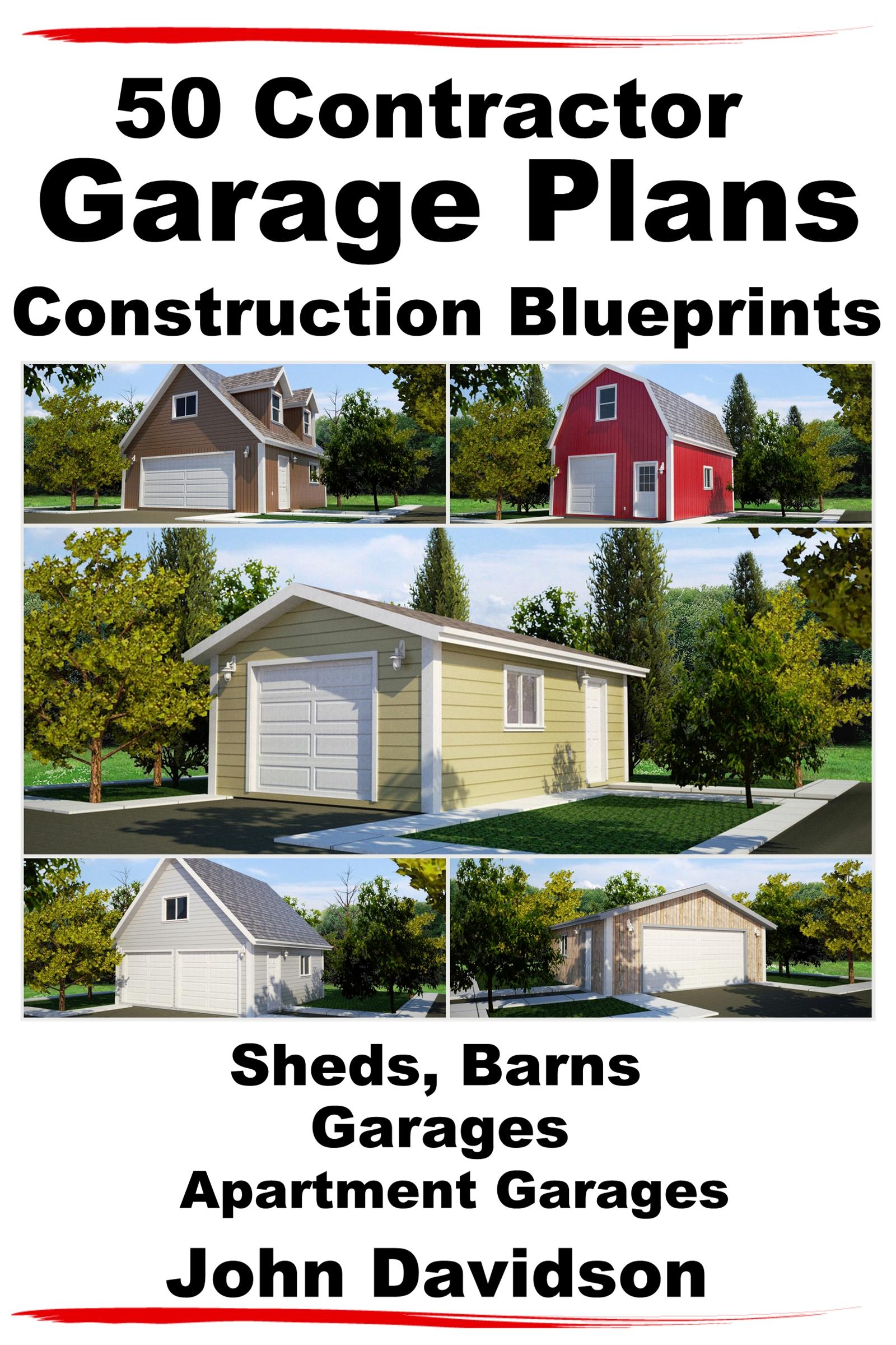smashwords u2013 50 contractor garage plans construction blueprints